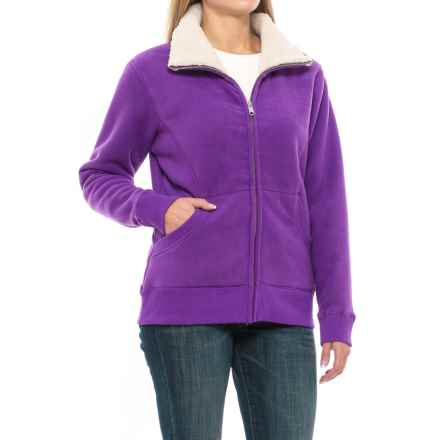 Dickies Bonded Sherpa Fleece Jacket (For Women) in Petunia - Closeouts