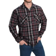 Dickies Brawny Plaid Flannel Shirt - Long Sleeve (For Men and Big Men) in Black - Closeouts