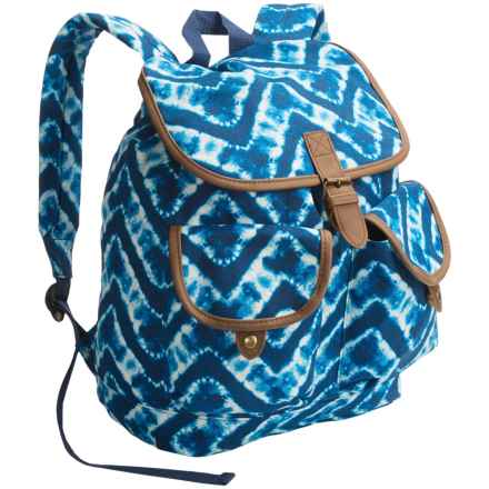 Dickies Canvas Gypsy Backpack in Chevron Tie Dye - Overstock