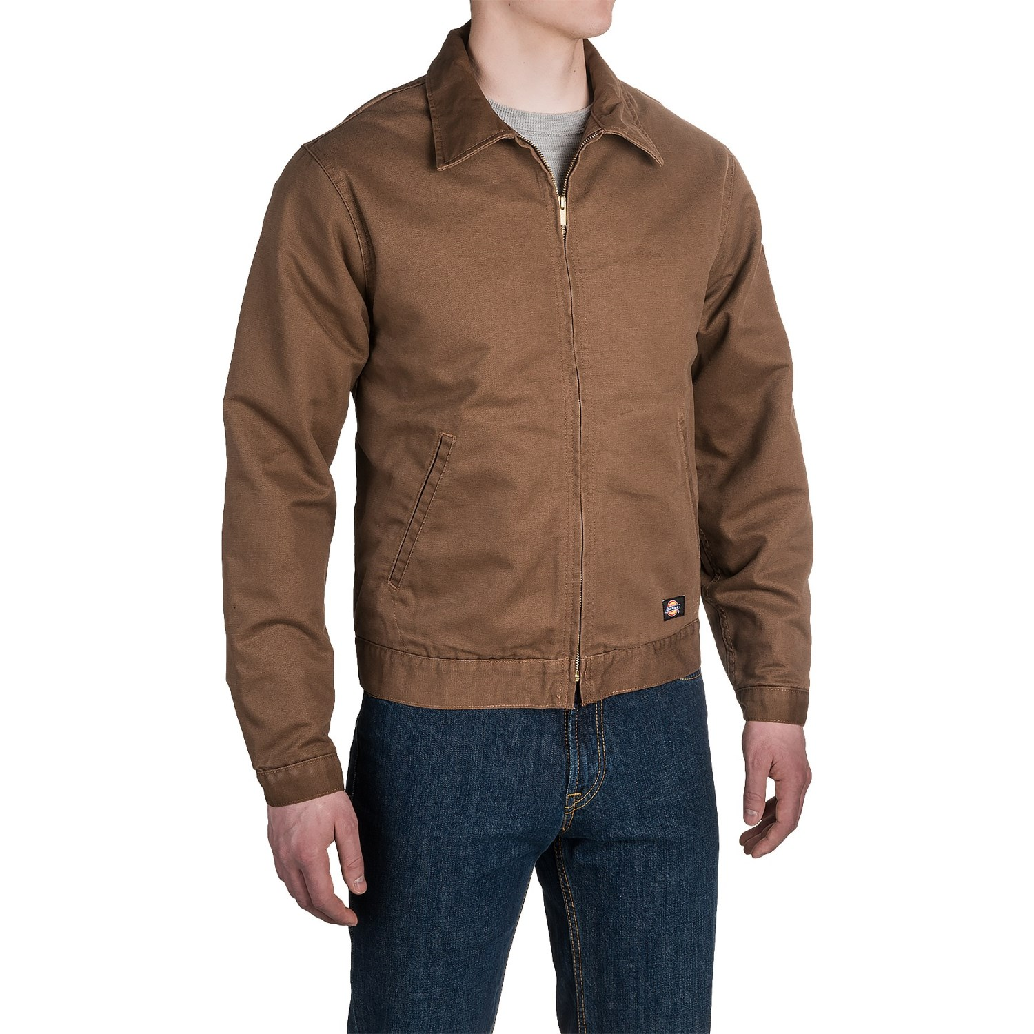 dickies canvas industrial friendly jacket for men   save 53
