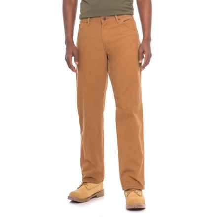 Dickies Carpenter Duck Jeans - Relaxed Fit (For Men) in Rbd Rinsed Brown Duck - 2nds