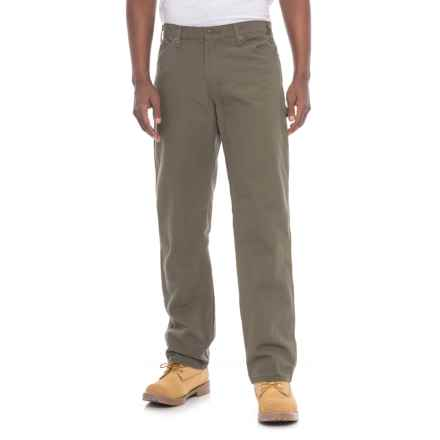 Dickies Carpenter Duck Jeans - Relaxed Fit (For Men) in Rinsed Moss - 2nds