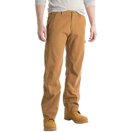 Dickies Carpenter Duck Jeans - Relaxed Fit, Straight Leg (For Men and Big Men) in Rinsed Brown Duck - 2nds