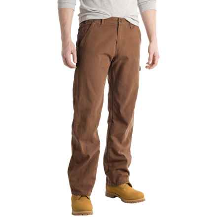 Dickies Carpenter Duck Jeans - Relaxed Fit, Straight Leg (For Men and Big Men) in Rinsed Timber Brown - 2nds
