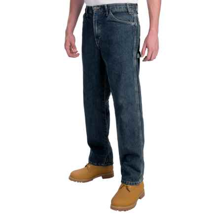 Dickies Carpenter Jeans - Straight Leg, Relaxed Fit  (For Men) in Rinsed Indigo Blue - 2nds