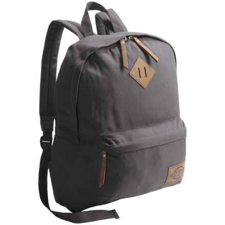Dickies Classic Canvas Backpack in Charcoal - Overstock