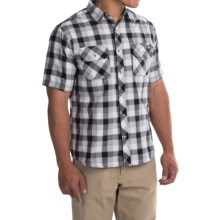 Dickies Contemporary Fit Camp Shirt - Short Sleeve (For Men) in Smoke/Black - Closeouts