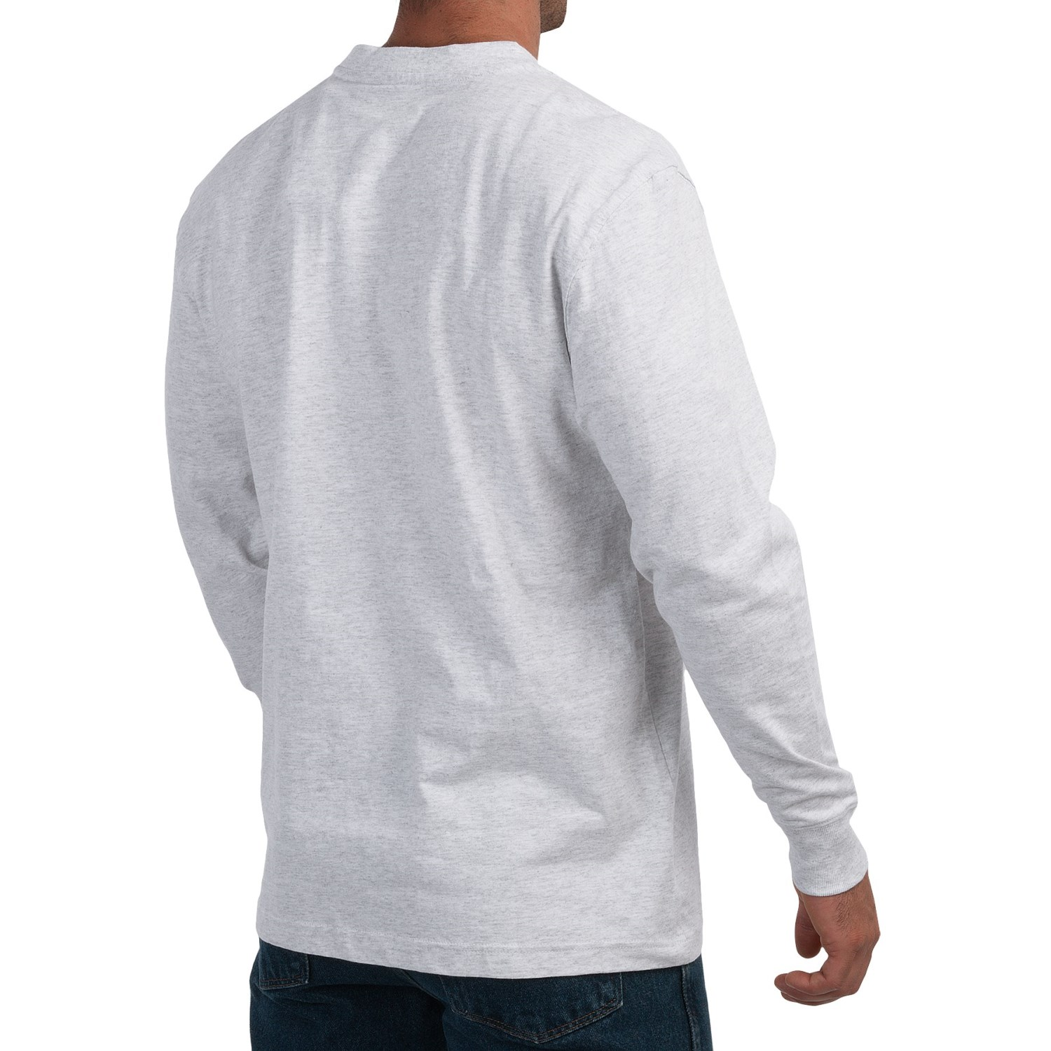 Dickies cotton jersey henley shirt for men 9849n save 56 for Long sleeve henley shirts for men
