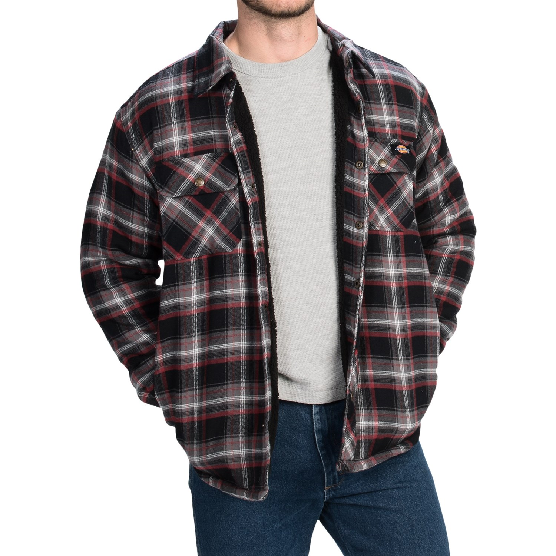 Dickies cotton plaid shirt jacket for men and big men for Dickies big tex shirt