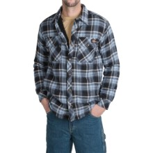 Dickies Cotton Plaid Shirt Jacket - Sherpa Lined (For Men and Big Men) in Dark Navy - Closeouts