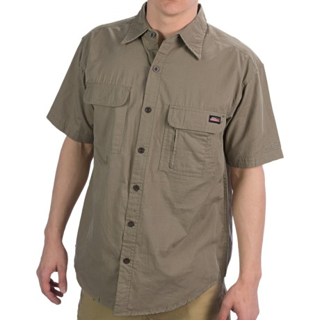 Dickies Cotton Shirt - Short Sleeve (For Men) in Sand