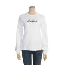Dickies Cotton T-Shirt - Long Sleeve (For Women) in White - Closeouts