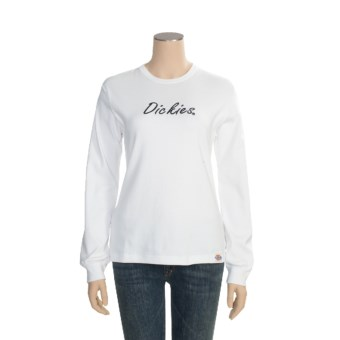 Dickies Cotton T-Shirt - Long Sleeve (For Women) in White