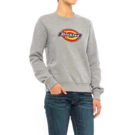 Dickies Crew Neck Fleece Sweatshirt (For Women) in Ash Gray - Closeouts