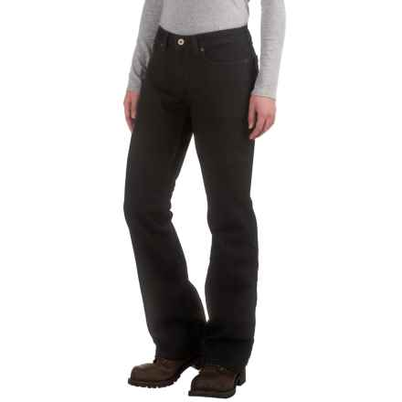 Dickies Curvy Bootcut Jeans (For Women) in Rinsed Black - 2nds