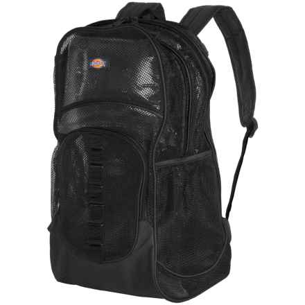 Dickies Deluxe Mesh 37L Backpack in Black - Closeouts