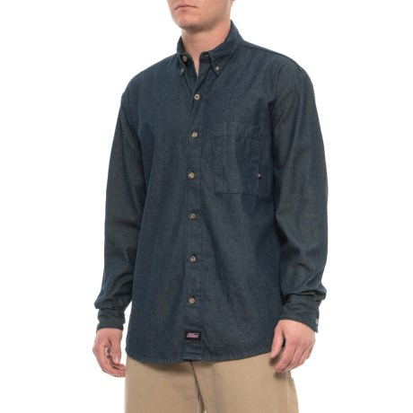 ee72449a10 Dickies Denim Shirt - Long Sleeve (For Men) in Denim Blue