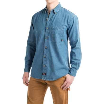 Dickies Denim Shirt - Long Sleeve (For Men) in Stonewashed Indigo Blue - 2nds