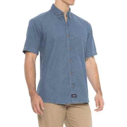 Dickies Denim Shirt - Short Sleeve (For Men) in Stonewashed Indigo - 2nds