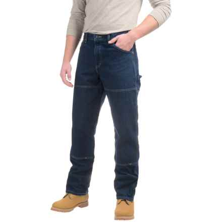 Dickies Double-Knee Carpenter Jeans - Relaxed Fit (For Men) in Rinsed Indigo Blue - Closeouts