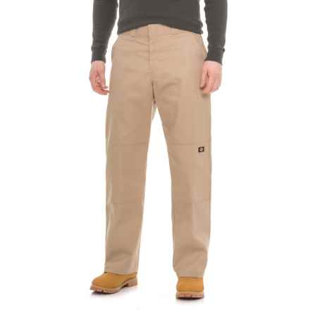 Dickies Double-Knee Pants - Relaxed Fit (For Men) in Khaki - Closeouts