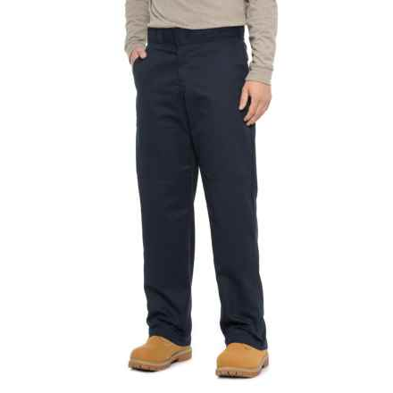 Dickies Double Knee Twill Work Pants - Relaxed Fit (For Men) in Navy - 2nds