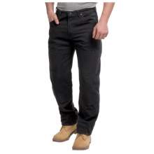Dickies Double-Knee Workhorse Jeans - Sanded Duck (For Men) in Rinsed Black - 2nds