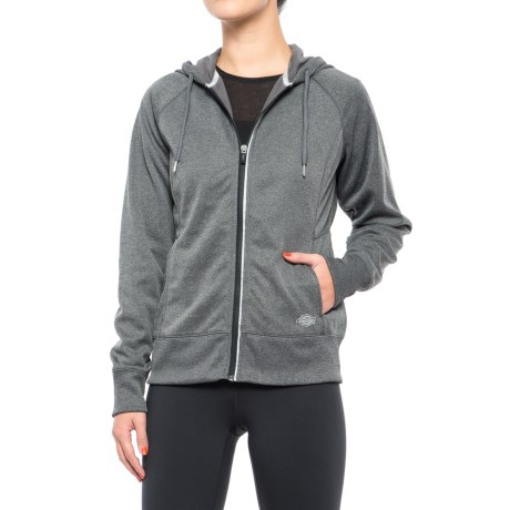 Dickies DPS Work Tech Fleece Hoodie - Full Zip (For Women) in Grey