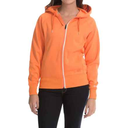 Dickies DPS Work Tech Fleece Hoodie - Full Zip (For Women) in Mandarin - Closeouts