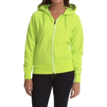 Dickies DPS Work Tech Fleece Hoodie - Full Zip (For Women) in Wild Lime - Closeouts