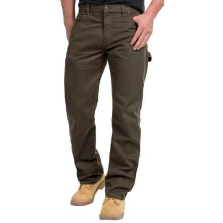 Dickies Duck Carpenter Jeans - Relaxed Fit, Straight Leg (For Men and Big Men) in Rinsed Black Olive - 2nds