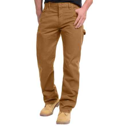 Dickies Duck Carpenter Jeans - Relaxed Fit, Straight Leg (For Men) in Rinsed Brown Duck - 2nds