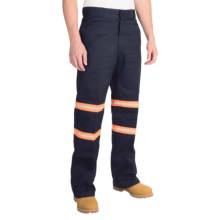 Dickies Enhanced Visibility Double-Knee Work Pants (For Men) in Dark Navy - Closeouts