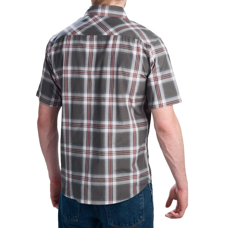 Dickies fashion western plaid shirt snap front short for Dickies short sleeve plaid shirt