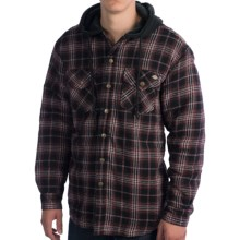 Dickies Flannel Hooded Shirt- Long Sleeve (For Men) in Aged Brick - Closeouts