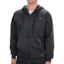 Dickies Fleece Hoodie - Full Zip (For Men and Women) in Charcoal - Closeouts