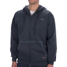Dickies Fleece Hoodie - Full Zip (For Men and Women) in Navy - Closeouts