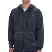 Dickies Fleece Hoodie - Full Zip (For Men and Women) in Navy - Closeouts