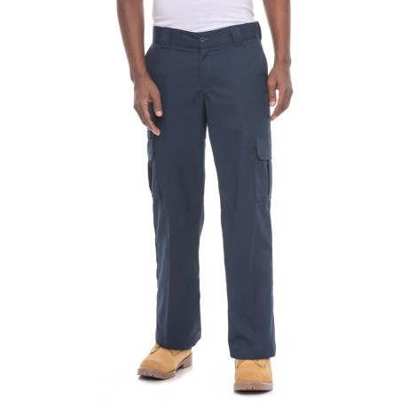 Dickies Flex Cargo Work Pants - Relaxed Fit (For Men) in Dark Navy