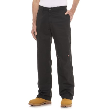 Dickies Flex Double Knee Twill Work Pants - Relaxed Fit (For Men) in Black