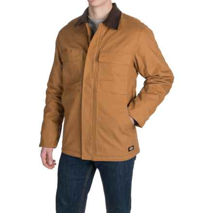 Dickies Flex Duck Coat - Insulated (For Men) in Brown Duck - Closeouts
