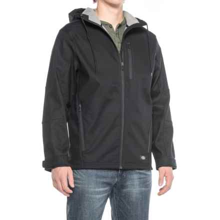 Dickies Flex Performance Bonded Canvas Hooded Jacket - Full Zip (For Men) in Black - Closeouts