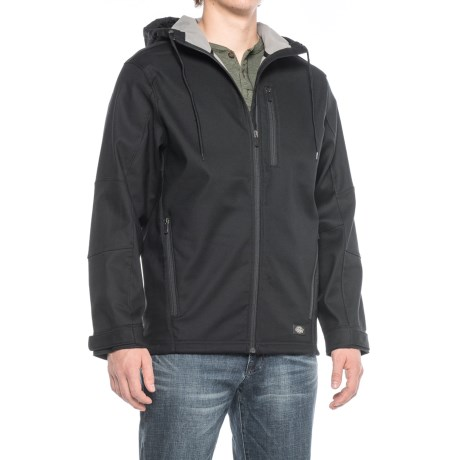 Image of Dickies Flex Performance Bonded Canvas Hooded Jacket - Full Zip (For Men)