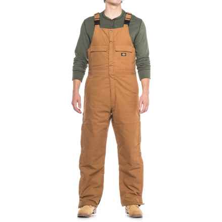 Dickies Flex Sanded Stretch Duck Bib Overalls - Insulated (For Men) in Brown Duck - Closeouts