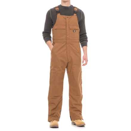 Dickies Flex Stretch Duck Bib Overalls - Insulated (For Men) in Brown Duck - Closeouts