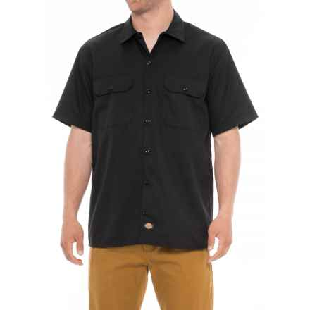 Dickies Flex Twill Shirt - Short Sleeve (For Men) in Black - 2nds