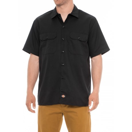 Dickies Flex Twill Shirt - Short Sleeve (For Men) in Black