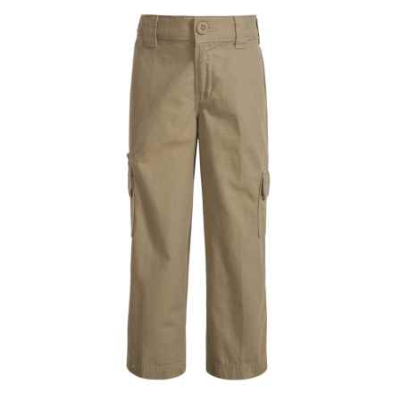 Dickies FlexWaist® Ripstop Cargo Pants - Relaxed Fit (For Boys) in Rinsed Desert Sand - Closeouts