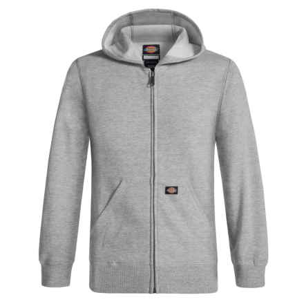 Dickies Full-Zip Fleece Hoodie (For Boys) in Heather Grey - Closeouts