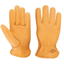 Dickies Grain Deerskin Drivers Gloves (For Men and Women) in Yellow - Closeouts